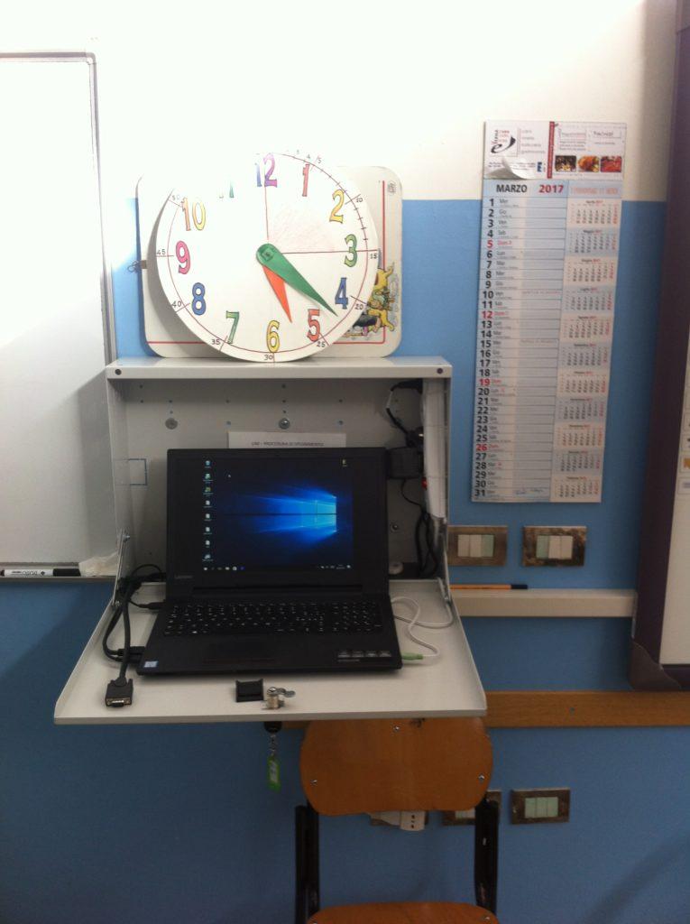Armadietto con PC