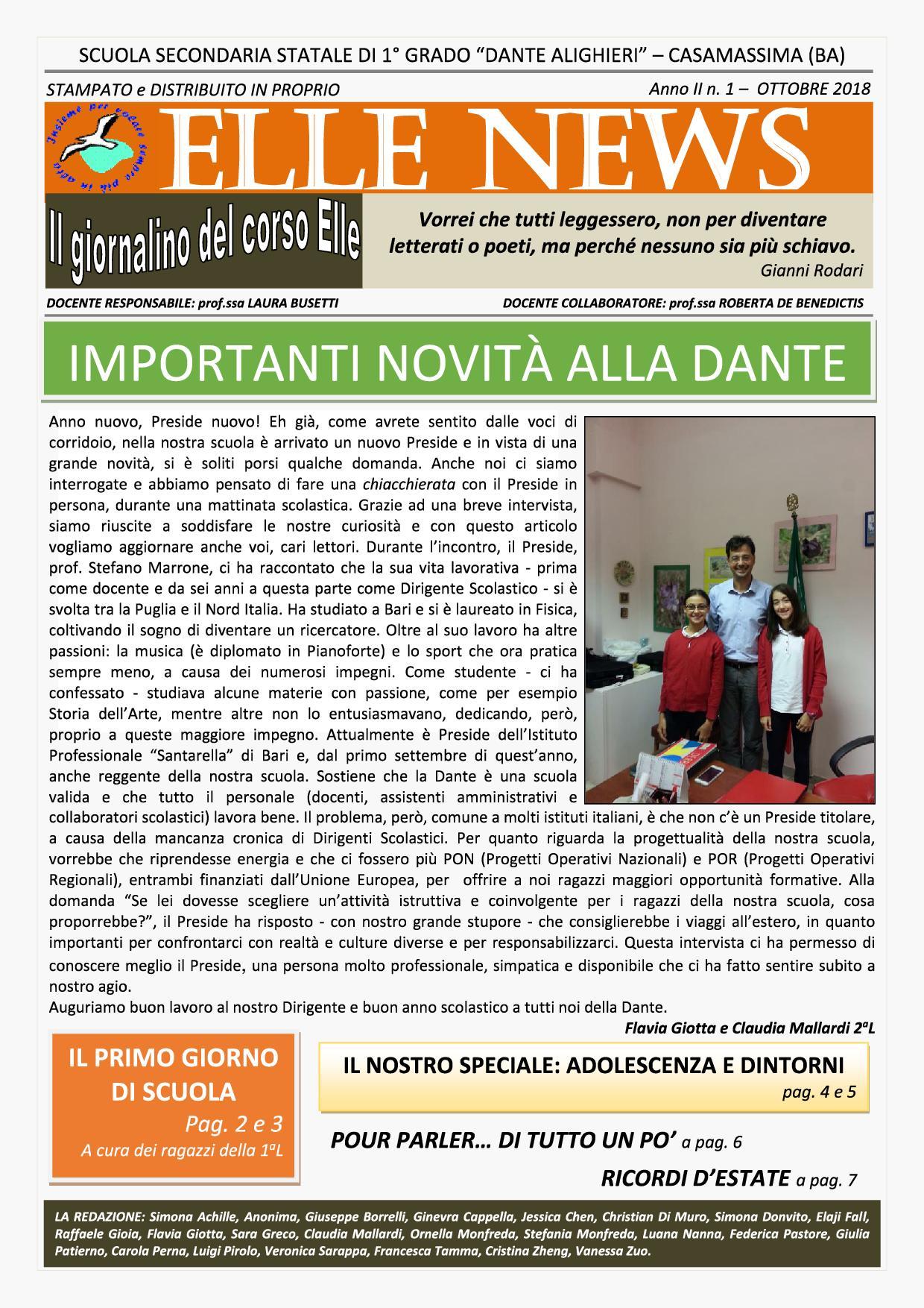Elle News II annualità n. 1 (1)1